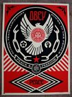 Obey Peace and Freedom Dove print red by Shepard Fairey signed and numbered