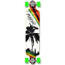 Yocaher Complete Palm City Rasta Drop Down Longboard