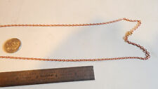 12 VINTAGE 24 INCH COPPER COATED LINK  CHAINS
