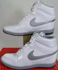 "New RARE Womens 10 NIKE ""Force Sky High"" White Leather Shoes $85 629746-102"