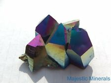 BEAUTIFUL___LARGE Dramatic Titanium Rainbow Aura Arkansas Quartz Crystal Cluster