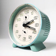 Vintage Jerger alarm clock retro space age desk table mantle shelf clock