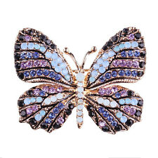 Rhinestone Butterfly Brooch Pin Gold Women Dress Wedding Bridal Brooch Pin CCO