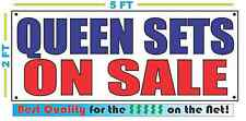 QUEEN SETS ON SALE Full Color Banner Sign NEW Best Quality for the $$$ MATTRESS