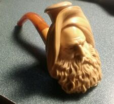 Antique Meerschaum Pipe Museum Quality Elder Man Bearded Pipe