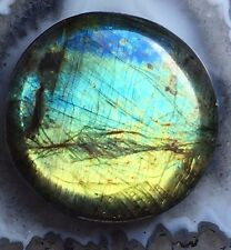 SHIMMERY BLUE GREEN LABRADORITE 31mm NATURAL AFRICA GEM 19g Pocket Stone Crystal