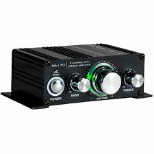 Kinter MA-170 2-Channel Mini Amplifier Bass Treble RCA In 2x