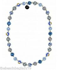 NEW JILZARA PREMIUM Handmade 8mm Clay Beads MARINA BLUE Petite Necklace