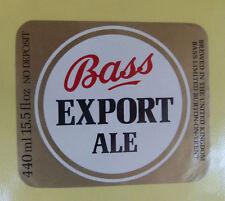 VINTAGE BRITISH BEER LABEL - BASS EXPORT ALE 440 ML