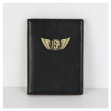 PASSPORT HOLDER - Black - Genuine leather - Personalized Foil Stamping FREE