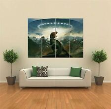 DINOSAUR VS ALIENS UFO NEW GIANT POSTER WALL ART PRINT PICTURE G835