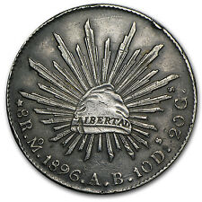Mexico 8 Reales Silver Coin - RandomYear - Cap & Rays - Average Circulated