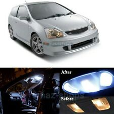 7Pcs White LED Lights Interior Package Kit for 2001-2005 Honda Civic SI EP3 MP
