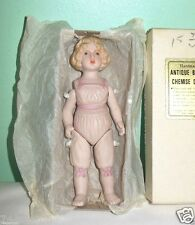 "Handmade Shackman 5 1/4"" Bisque Chemise Jointed Doll in Box"