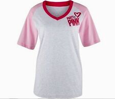 ZUMBA® Party In Pink™ Baseball T Shirt Top Breast Cancer Awareness Ribbon XL/XXL