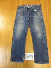 Used Levi 505 regular feathered grunge jean tag 34x29 meas 34x29 19610F