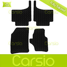 Black Fully Tailored Rubber Car Floor Mats For VW Touareg (Upto 2009)