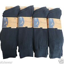 NEW MENS 100% COTTON ANTI-BACTERIAL BLACK LOT SOCKS UK SIZE 6-11 PACK OF 12