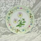 "AYNSLEY WILD TUDOR PANSY COUPE ACCENT SALAD PLATE ENGLAND 8 1/4"" FLORAL"