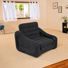 Inflatable ArmChair Single Sofa Bed Seat Guest Bedroom Foldable Chair Couch