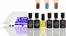 UV Gel Nail Polish starter Kit V10 LED Lamp   colors G47 G22 GL9