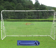 Soccer Goal 12' x 6' Football W/Net Strong Straps, Anchor Ball Training Sets