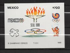 Mexico : 1988 Olympic Games Seoul 88 Minisheet ( MNH )
