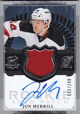 2013-14 UPPER DECK UD THE CUP JON MERRILL RC ROOKIE PATCH AUTO  /249 #175
