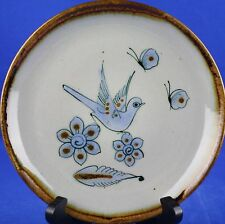 El Palomar Tonala Blue Salad Plate #5 Mexico Ken Edwards Bird Signature