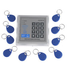 RFID Proximity Door Entry/Lock Access Home Security Control System + 10 Key Fobs