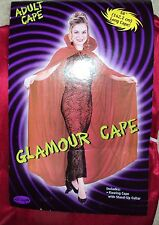 """Halloween Costume RED HIGH NECK GLAMOUR CAPE  ONE SIZE 56"""""""