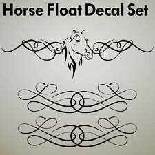 HORSE FLOAT DECAL SET Trailer stud stallion Sticker truck box ute H1007