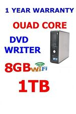 DELL 780 COMPUTER PC QUAD CORE 8GB 1000GB 1TB  WIFI WINDOWS 7 PRO OR 10 PRO