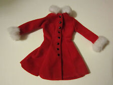 Barbie Red Coat Dress with White Fur Trim - Barbie Tagged