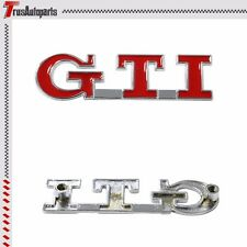 3D Red GTI Front Hood Grille Emblem Badge Decal Sticker Metal For VW Golf CC MK5