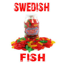 AMERICAN IMPORT SWEDISH FISH TREAT JAR CONTAINS A WHOPPING 800g OF CANDY.