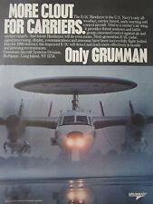5/1989 PUB GRUMMAN E-2C HAWKEYE US NAVY CARRIER RADAR ORIGINAL AD