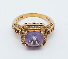 "LE VIAN ""STRAWBERRY GOLD DIAMOND & AMETHYST"" RING 14K STRAWBERRY GOLD SZ. 5.5!!!"