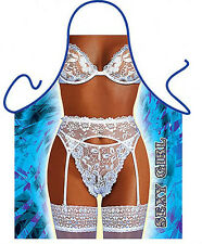 Sexy Girl in lace lingerie woman kitchen apron bachelorette party gag gift ITATI