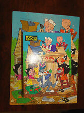 "Vtg 1978 Whitman Collectible Looney Tunes 100 Piece Jigsaw Puzzle 12"" x15.5"""