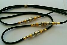 Paracord Bling Beaded Show Dog Lead/Leash Toy Slip Lead Gold or Silver Design