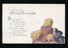 Greetings EASTER Chicks Tuck Oilette #1023 PPC used c1912