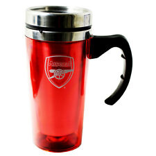 ARSENAL FC ALUMINIUM TRAVEL JOURNEY COFFEE TEA MUG SOUVENIOR NEW XMAS GIFT