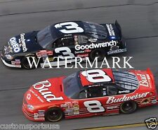 DALE EARNHARDT SR - DALE EARNHARDT JR NASCAR Glossy 8 x 10 Photo Poster