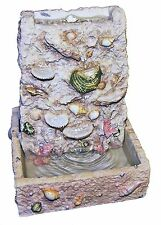 NEW! Ocean Sea Shell Indoor Table Fountain w SUPER Pump! Zen,Relax ~MSRP:$49.99~