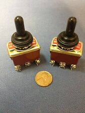 2 Pieces RED Waterproof boot cap DPDT momentary Toggle switch 2x ON/OFF/ON 30a