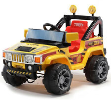 12V Kids Ride On Hummer Jeep Car Truck with Big Wheels & R/C REMOTE MP3 Yellow