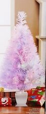 "32"" White Lighted Fiber Optic Christmas Tree - NIB"