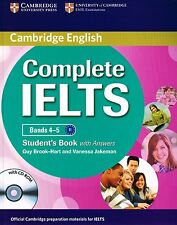 Cambridge English COMPLETE IELTS Bands 4-5 STUDENT'S BOOK with Answers +CD @New@