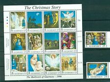 NATALE - CHRISTMAS GUERNSEY 1996 set+block The Christmas Story